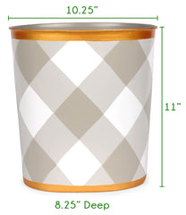Oval Wastebasket Size Guide