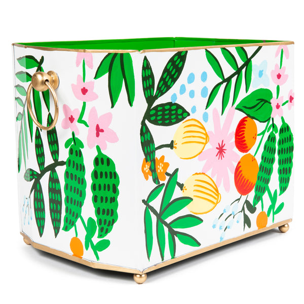 "Fruit Floral 14"" Magazine Holder"