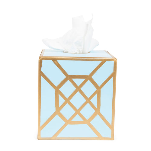 Don't Fret Light Blue Tissue Box Cover