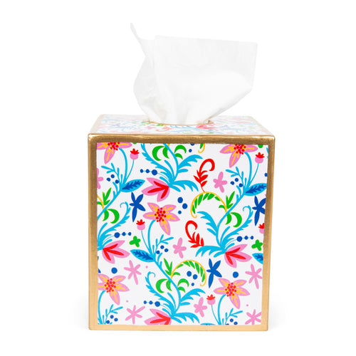 Tropical Floral Tissue Box Cover