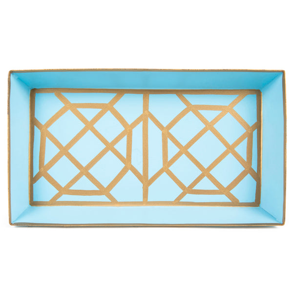 Don't Fret Light Blue Guest Towel Tray