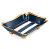 Horizontal Blue Stripe Trinket Tray