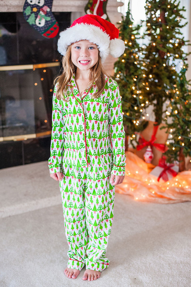 Kid's Tangled Tinsel Sateen Full Pajama Set