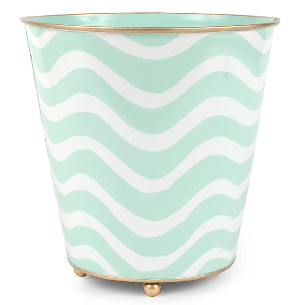 Breakers Round Wastebasket with Feet