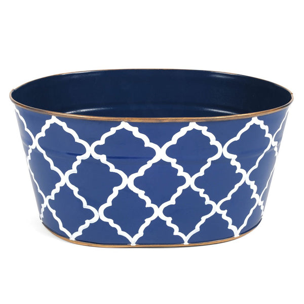"Madeline Navy ""MAIL"" Tub"