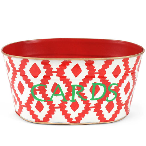 "Aztec Red  ""CARDS"" Tub"