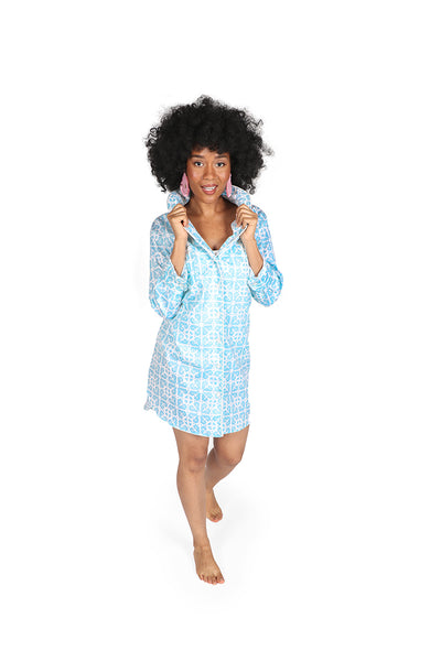 Garden Gate Sateen Sleep Shirt