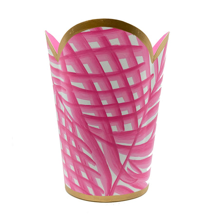 Palm Pink Square Cachepot
