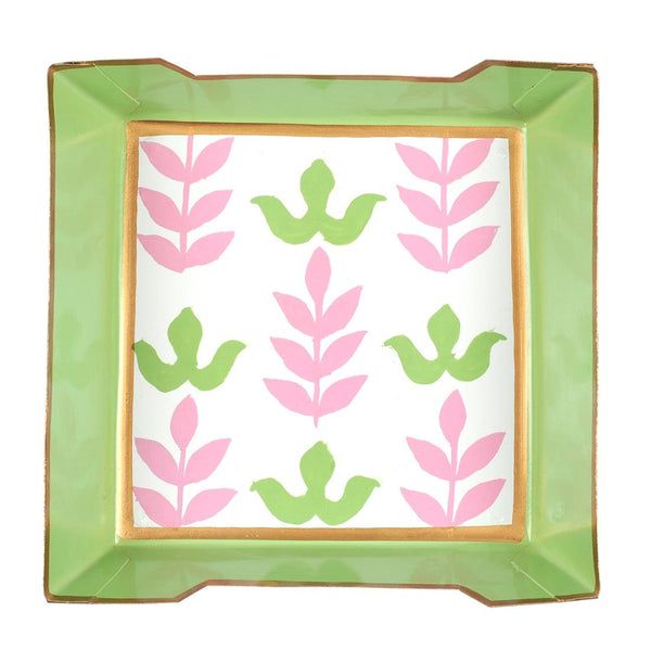 Foliage Pink Cocktail Napkin Tray