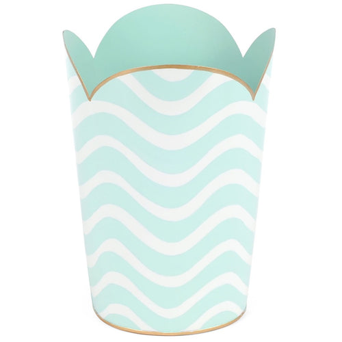 Breakers Aqua Tulip Wastebasket