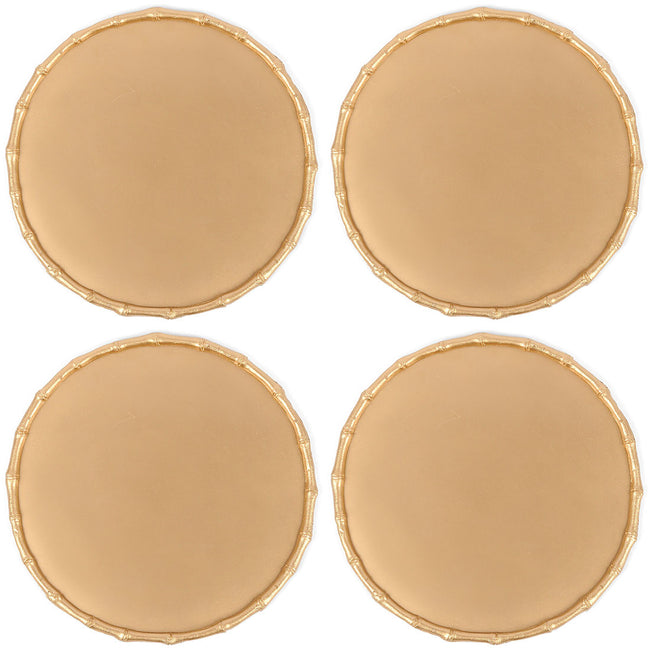 Bamboo Chargette Gold (4pk)