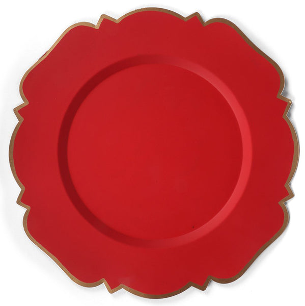 "Abbey Red 14"" Charger Plate 4-Pack"