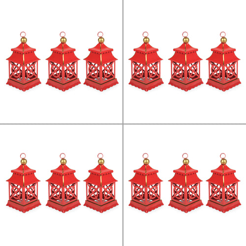 Shanghai Ornament- Red (4 sets of 3)