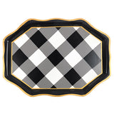 Buffalo Plaid Black Tea Tray