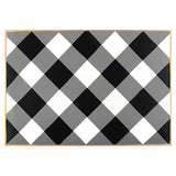 Buffalo Plaid Black Placemat (4pk)