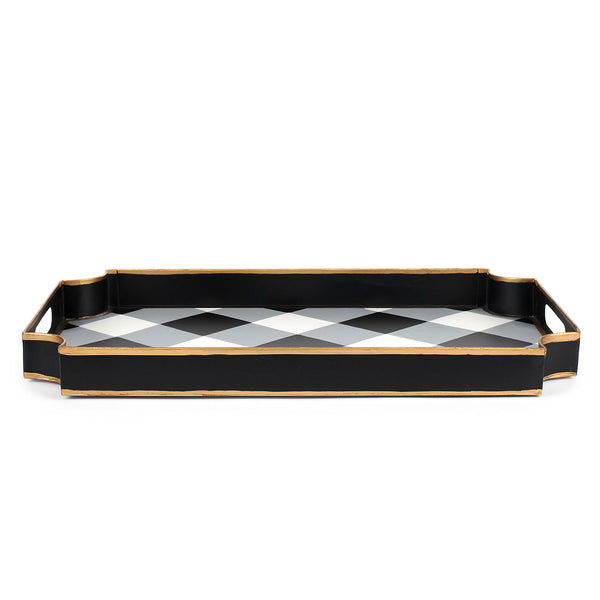 Buffalo Plaid Black Jaye Tray