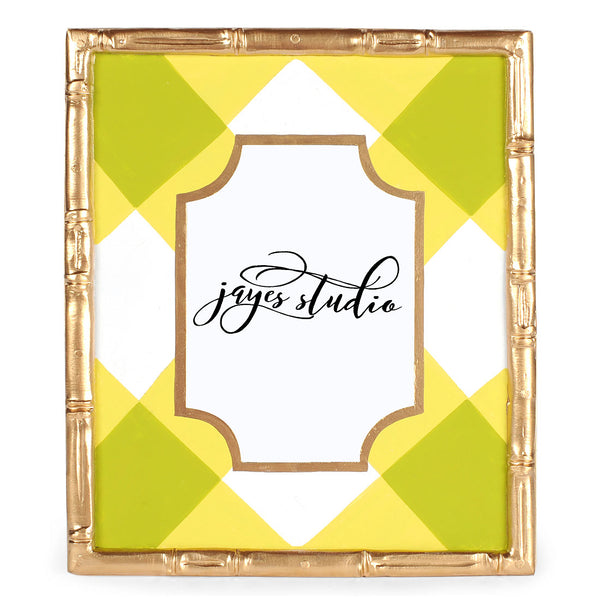 Green Buffalo Plaid Bamboo Photo Frame