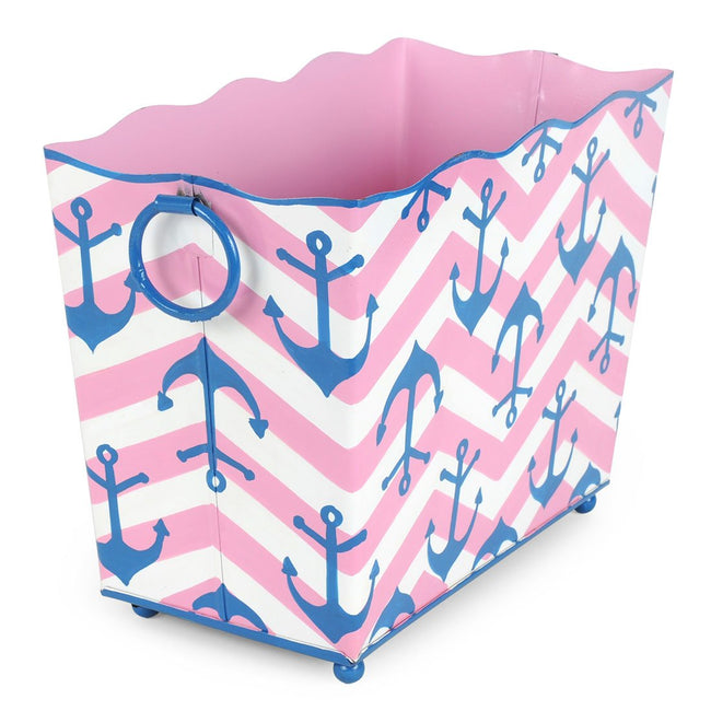 Choppy Sea Pink Magazine Holder