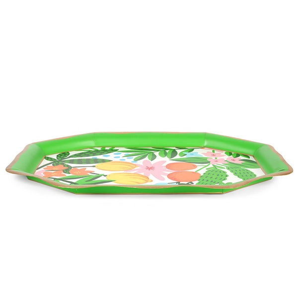 Fruit Floral Tea Tray