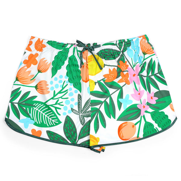 Fruit Floral Sateen Women's Boxers