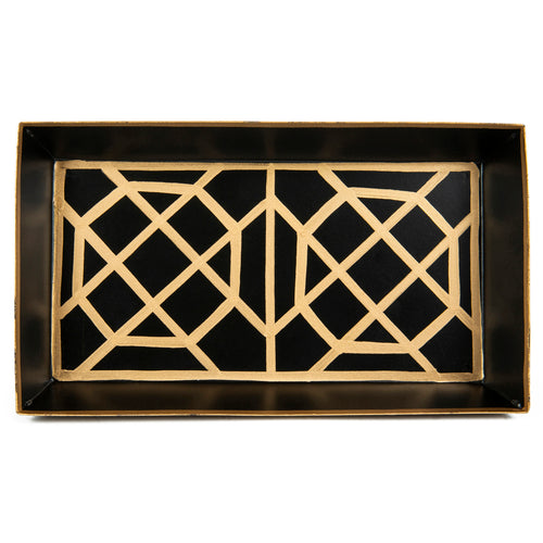 Don't Fret Black Guest Towel Tray