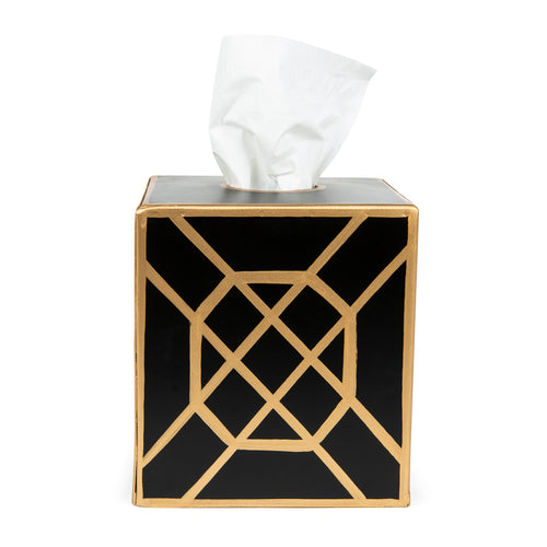 Don't Fret Black Tissue Box Cover