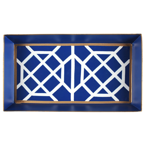 Don't Fret Blue Guest Towel Tray