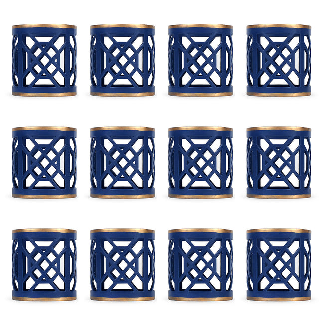 Don't Fret Blue Napkin Ring (12 pack)