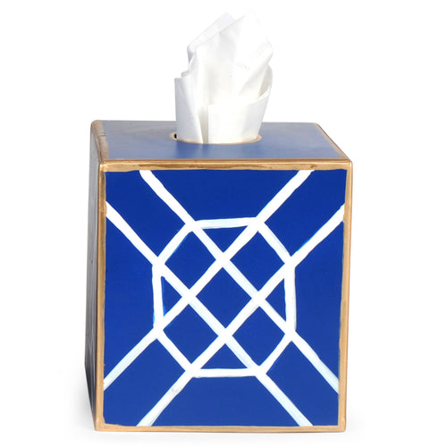 Don't Fret Blue Tissue Box Cover