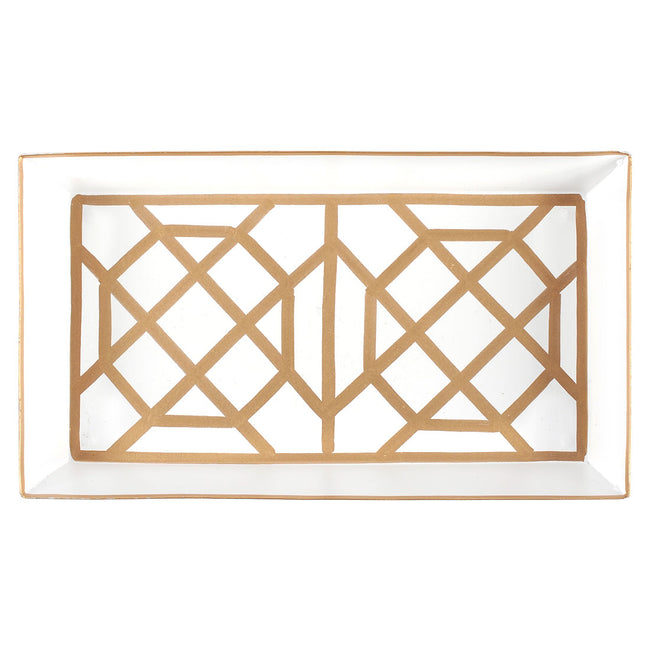 Don't Fret White Guest Towel Tray