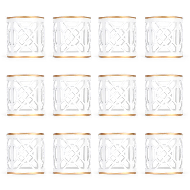 Don't Fret White Napkin Ring (12 pack)
