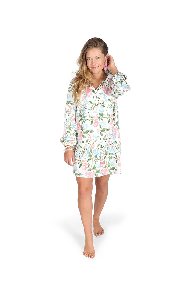 Hydrangea Meadow Sateen Sleep Shirt