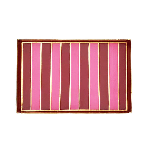 Preppy Stripe Oliver Tray 10x12
