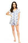 Sea Life Sateen Ruffled Summer PJ Set