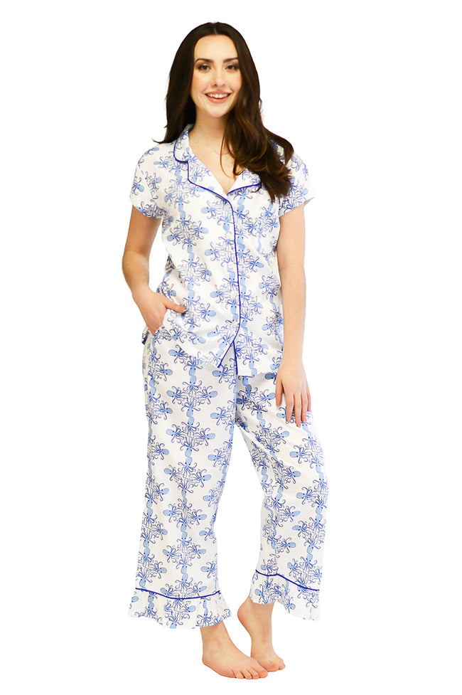 Sea Life Sateen Capri Pajama Set