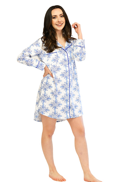 Sea Life Sateen Sleep Shirt