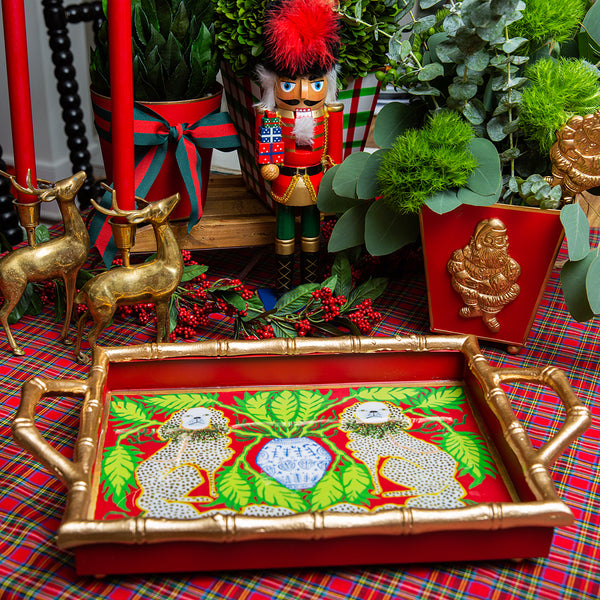 Staffies Holiday Enameled Chang Mai Tray 10x14