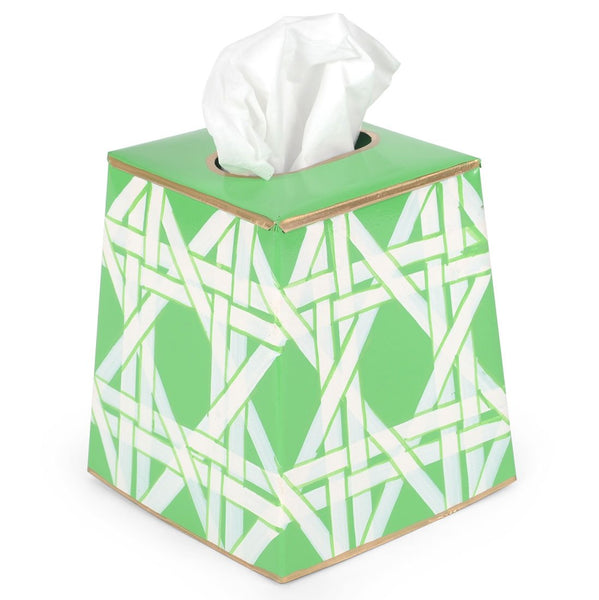 Cane Green Tissue Box Cover