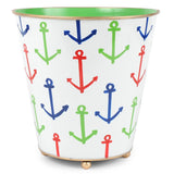 Anchors Round Wastebasket with Feet