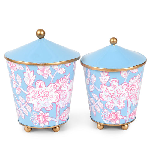 Floral Toile Set of 2 Canisters