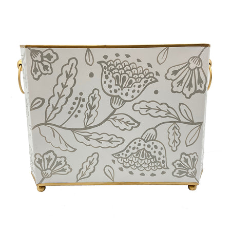 Floral Silhouette Magazine Holder