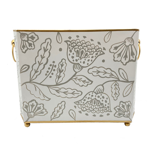 "Floral Silhouette 14"" Magazine Holder"