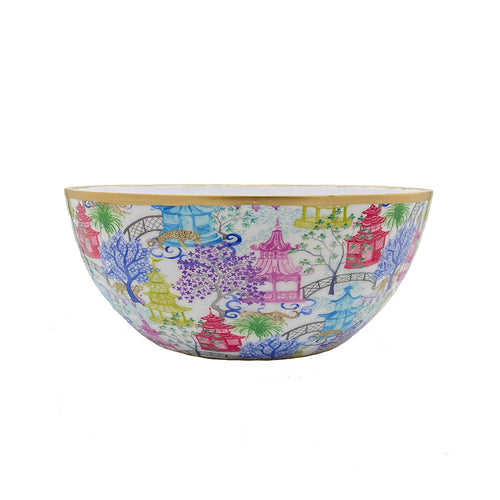 Garden Party Enameled Bowls
