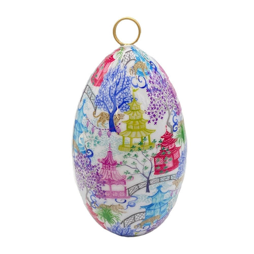 Garden Party Multi Enameled Large Egg