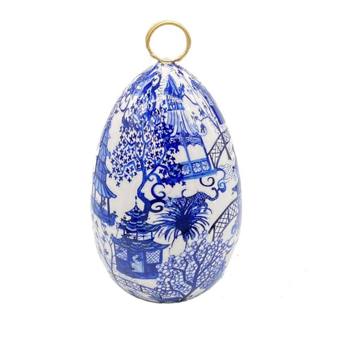 Garden Party Blue Enameled Medium Egg
