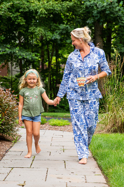 Garden Party Sateen Full Pajama Set