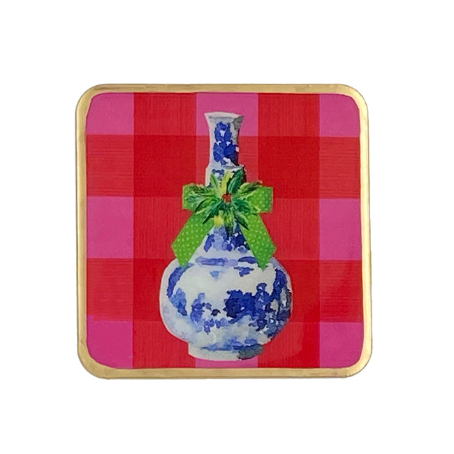 Buffalo Ginger Jars Enameled Coasters (4pk)