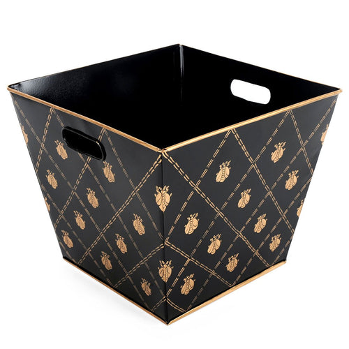 French Bee Black and Gold Storage Bin