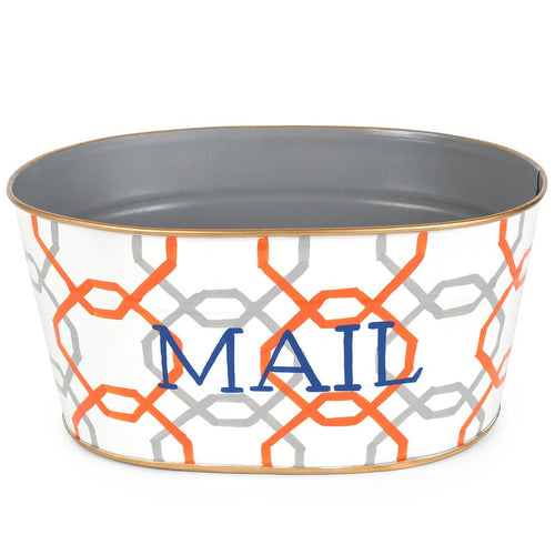 Squares Orange Mail Tub