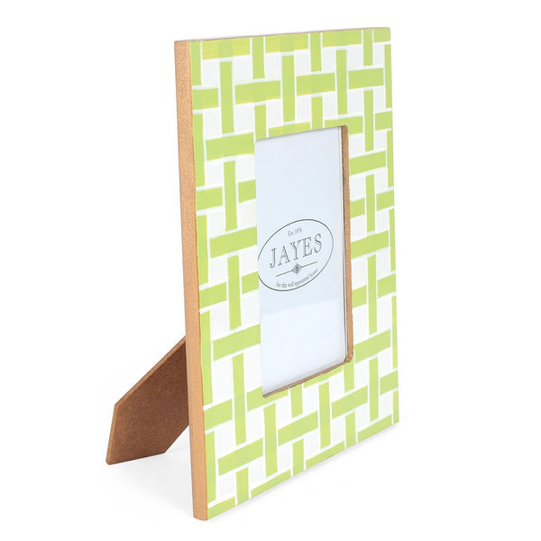 "Basketweave Green 5""x7"" Picture Frame"